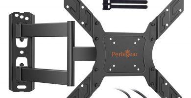 Soporte TV de Pared Articulado Inclinable y Giratorio para Pantallas de 23-55 pulgadas, hasta 45 kg, Max VESA 400
